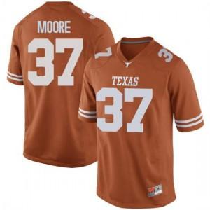Men Texas Longhorns Chase Moore #37 Replica Orange Football Jersey 267361-695