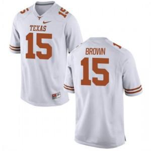 Men Texas Longhorns Chris Brown #15 Limited White Football Jersey 665229-931