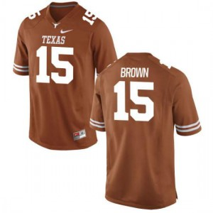 Women Texas Longhorns Chris Brown #15 Authentic Tex Orange Football Jersey 401923-210