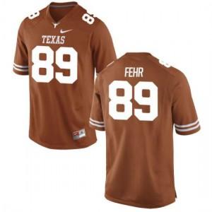 Men Texas Longhorns Chris Fehr #89 Authentic Tex Orange Football Jersey 512612-721