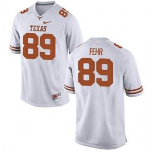 Men Texas Longhorns Chris Fehr #89 Replica White Football Jersey 636905-812