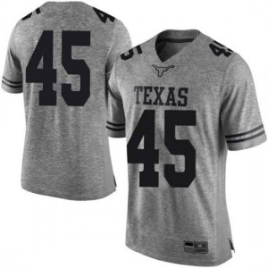 Men Texas Longhorns Chris Naggar #45 Limited Gray Football Jersey 984166-213