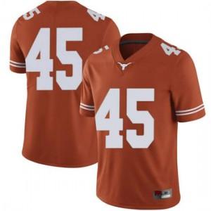 Men Texas Longhorns Chris Naggar #45 Limited Orange Football Jersey 818870-534