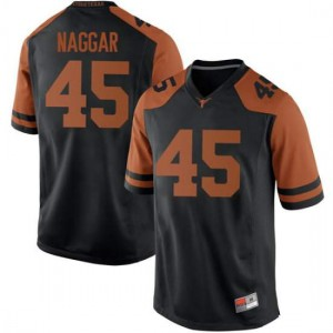 Men Texas Longhorns Chris Naggar #45 Replica Black Football Jersey 933693-612