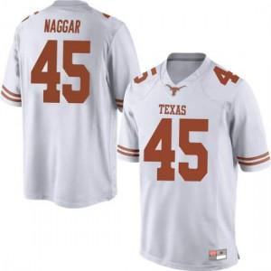 Men Texas Longhorns Chris Naggar #45 Replica White Football Jersey 845397-423