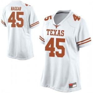 Women Texas Longhorns Chris Naggar #45 Game White Football Jersey 274194-815