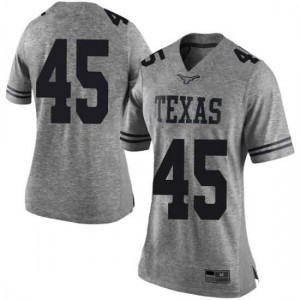 Women Texas Longhorns Chris Naggar #45 Limited Gray Football Jersey 686907-312