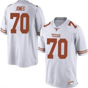 Men Texas Longhorns Christian Jones #70 Game White Football Jersey 582463-796