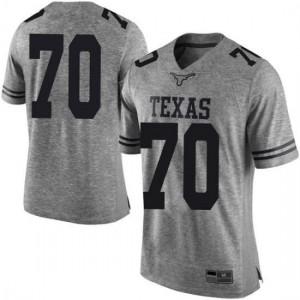 Men Texas Longhorns Christian Jones #70 Limited Gray Football Jersey 381144-196