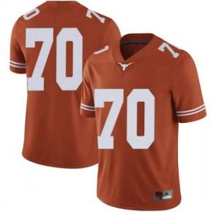 Men Texas Longhorns Christian Jones #70 Limited Orange Football Jersey 965265-543