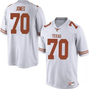 Men Texas Longhorns Christian Jones #70 Replica White Football Jersey 742839-921