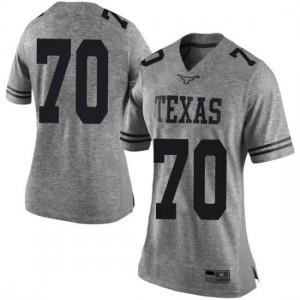 Women Texas Longhorns Christian Jones #70 Limited Gray Football Jersey 483333-801