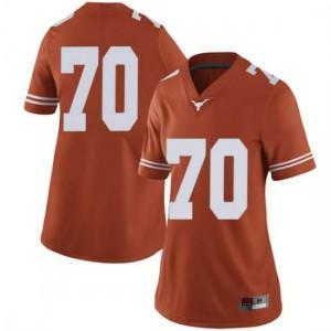 Women Texas Longhorns Christian Jones #70 Limited Orange Football Jersey 271834-295