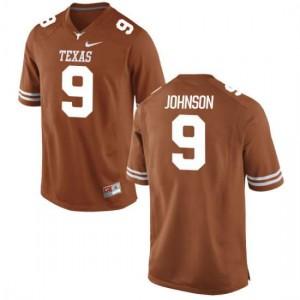 Men Texas Longhorns Collin Johnson #9 Authentic Tex Orange Football Jersey 333930-362