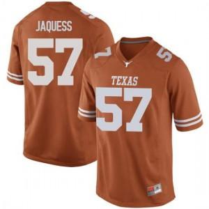 Men Texas Longhorns Cort Jaquess #57 Game Orange Football Jersey 720671-888