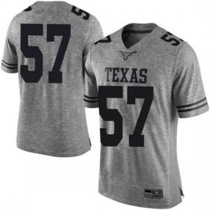 Men Texas Longhorns Cort Jaquess #57 Limited Gray Football Jersey 909738-779