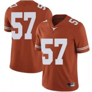 Men Texas Longhorns Cort Jaquess #57 Limited Orange Football Jersey 648476-486