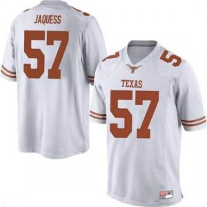 Men Texas Longhorns Cort Jaquess #57 Replica White Football Jersey 671359-674