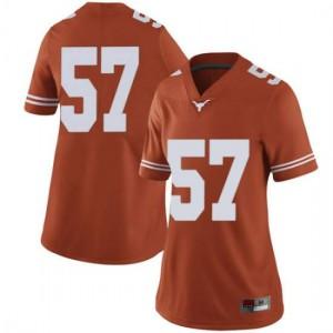 Women Texas Longhorns Cort Jaquess #57 Limited Orange Football Jersey 359525-606