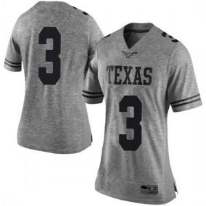 Women Texas Longhorns Courtney Ramey #3 Limited Gray Football Jersey 879000-922