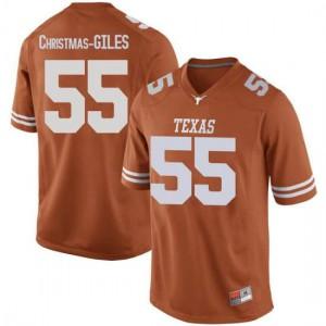 Men Texas Longhorns D'Andre Christmas-Giles #55 Replica Orange Football Jersey 624965-912