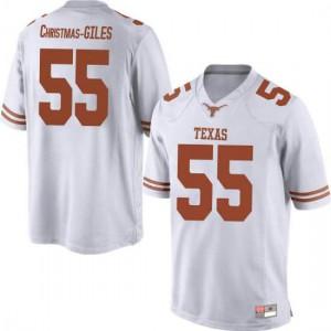 Men Texas Longhorns D'Andre Christmas-Giles #55 Replica White Football Jersey 786473-516