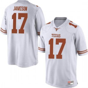 Men Texas Longhorns D'Shawn Jamison #17 Game White Football Jersey 232357-705