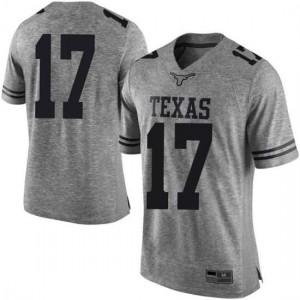 Men Texas Longhorns D'Shawn Jamison #17 Limited Gray Football Jersey 782264-740