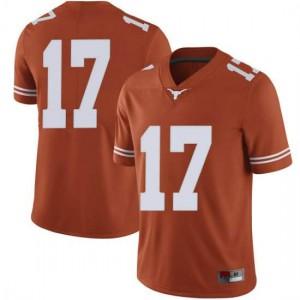 Men Texas Longhorns D'Shawn Jamison #17 Limited Orange Football Jersey 954835-938