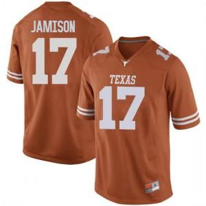 Men Texas Longhorns D'Shawn Jamison #17 Replica Orange Football Jersey 989404-849