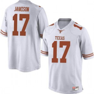 Men Texas Longhorns D'Shawn Jamison #17 Replica White Football Jersey 503955-590