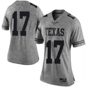 Women Texas Longhorns D'Shawn Jamison #17 Limited Gray Football Jersey 906569-292