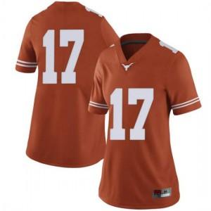 Women Texas Longhorns D'Shawn Jamison #17 Limited Orange Football Jersey 341299-132