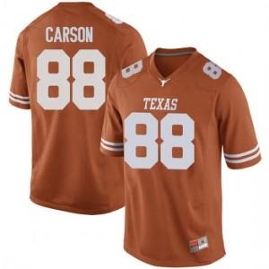 Men Texas Longhorns Daniel Carson #88 Game Orange Football Jersey 855127-228