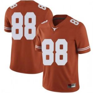 Men Texas Longhorns Daniel Carson #88 Limited Orange Football Jersey 136701-679