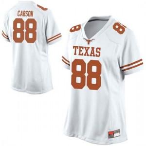 Women Texas Longhorns Daniel Carson #88 Game White Football Jersey 245949-997