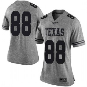 Women Texas Longhorns Daniel Carson #88 Limited Gray Football Jersey 214821-558