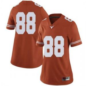 Women Texas Longhorns Daniel Carson #88 Limited Orange Football Jersey 622810-730