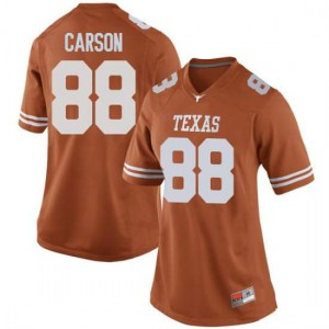 Women Texas Longhorns Daniel Carson #88 Replica Orange Football Jersey 664375-789