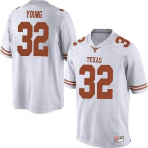 Men Texas Longhorns Daniel Young #32 Game White Football Jersey 254518-574