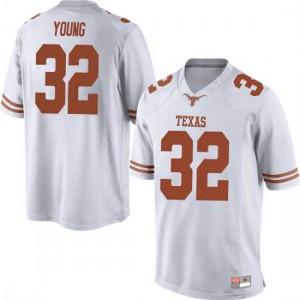 Men Texas Longhorns Daniel Young #32 Replica White Football Jersey 531305-976