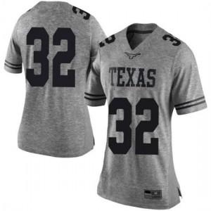 Women Texas Longhorns Daniel Young #32 Limited Gray Football Jersey 363903-423