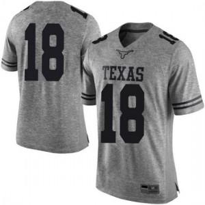 Men Texas Longhorns Davante Davis #18 Limited Gray Football Jersey 711720-199