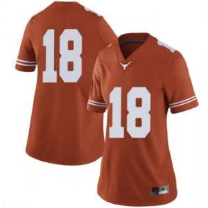 Women Texas Longhorns Davante Davis #18 Limited Orange Football Jersey 402614-928