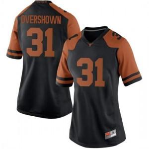 Women Texas Longhorns DeMarvion Overshown #31 Game Black Football Jersey 465025-598