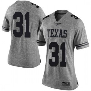 Women Texas Longhorns DeMarvion Overshown #31 Limited Gray Football Jersey 425284-711