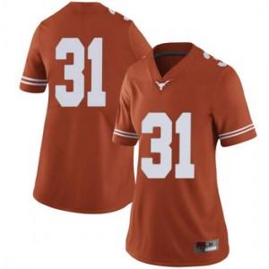 Women Texas Longhorns DeMarvion Overshown #31 Limited Orange Football Jersey 553378-796