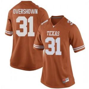 Women Texas Longhorns DeMarvion Overshown #31 Replica Orange Football Jersey 119332-451