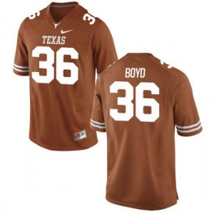 Women Texas Longhorns Demarco Boyd #36 Authentic Tex Orange Football Jersey 150924-473