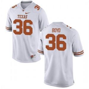 Women Texas Longhorns Demarco Boyd #36 Authentic White Football Jersey 955320-304
